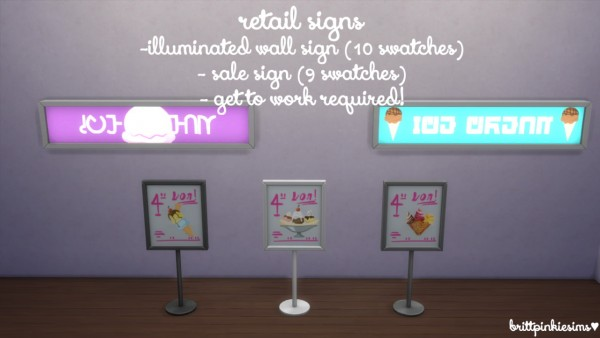 Brittpinkiesims: Ice Cream Parlor Custom Content and Lot