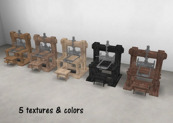 History Lovers Sims Blog: Medieval Printing Press as a Computer