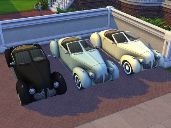 Enure Sims: Open Car High Society converetd from TS3 to TS4