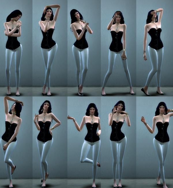 Simsworkshop: Model pose pack 6