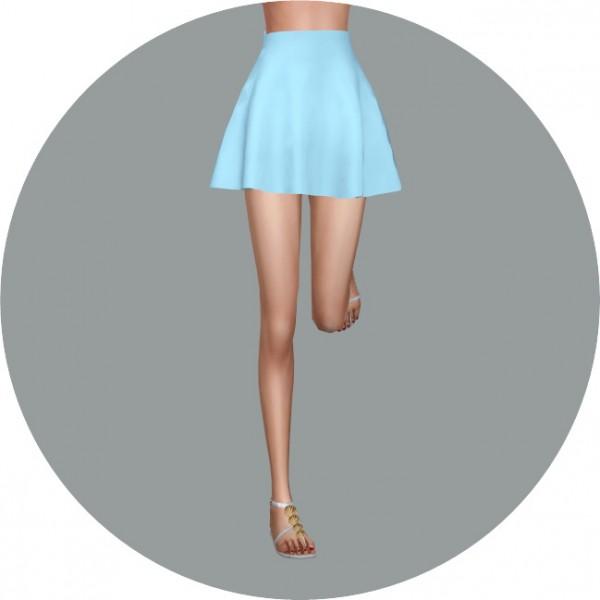 SIMS4 Marigold: Skater Mini Skirt v1