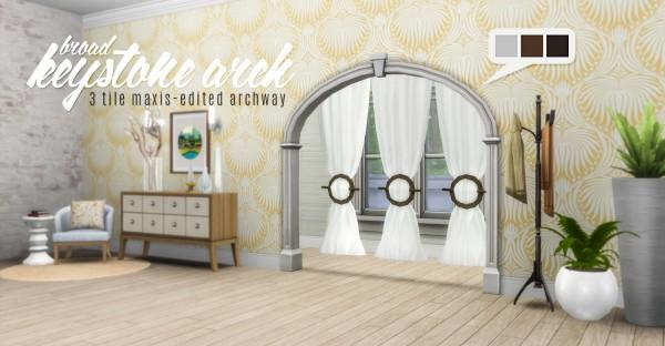 Simsational designs: Broad Keystone Arch   3 tile Maxis