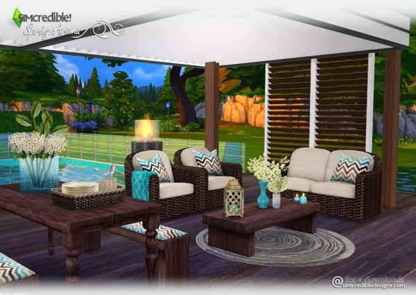 Simcredible Designs Spring Aroma Outdoor Sims 4 Downloads