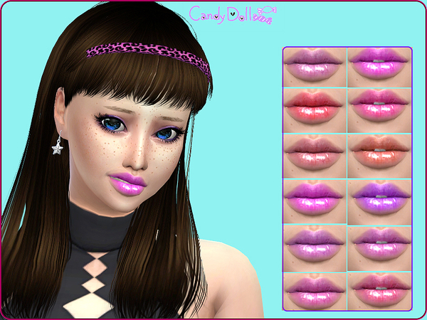 The Sims Resource: CandyDoll Super Cute Gloss by DivaDelic06