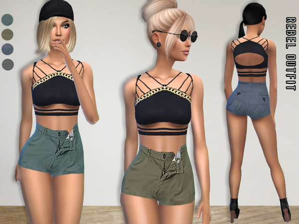 The Sims Resource: Rebel Outfit by Puresims