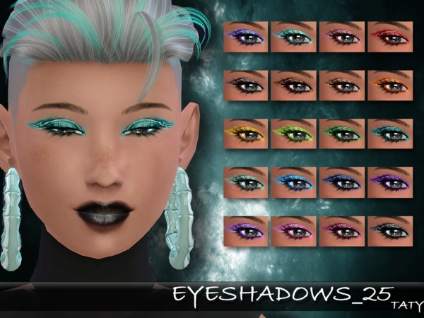 The Sims Resource: Eyeshadows 25 by Taty