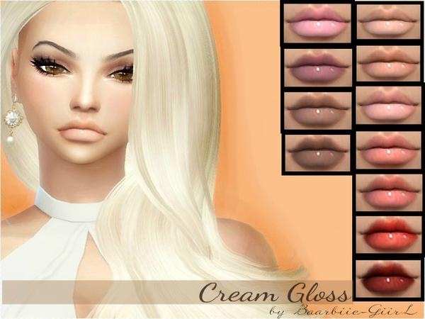 The Sims Resource Cream Gloss By Baarbiie Giirl Sims 4