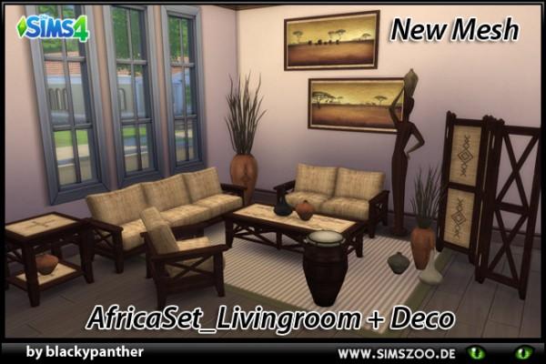 Blackys Sims 4 Zoo: Africa Set Livingroom • Sims 4 Downloads
