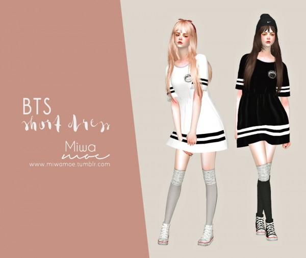 Miwamoe Bts Short Dress Sims 4 Downloads