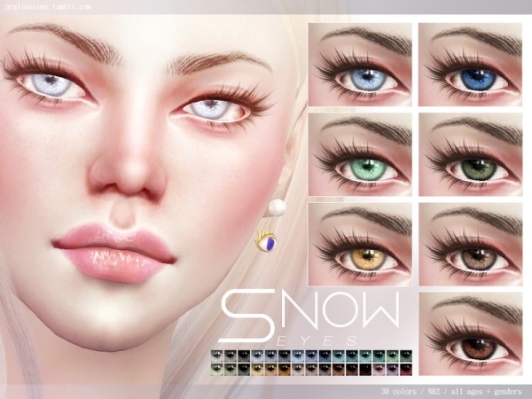 The Sims Resource Snow Eyes N82 By Pralinesims Sims 4