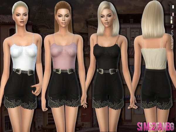 The Sims Resource: 174   Boho outfit by sims2fanbg