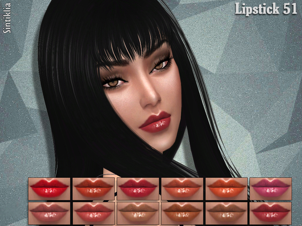 The Sims Resource: Sintiklia   Lipstick 51