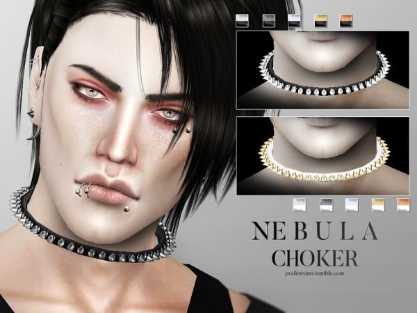 The Sims Resource: Nebula choker by Pralinesims