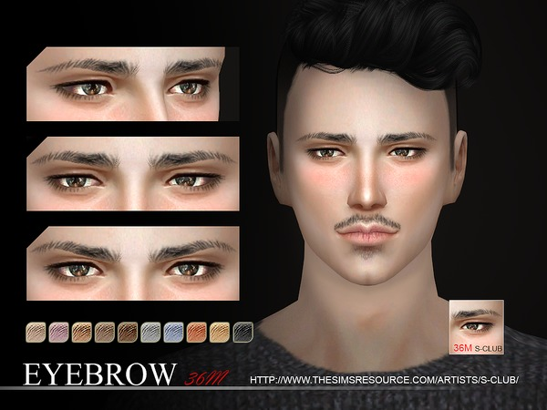 The Sims Resource: Eyebrows 36 M by S Club