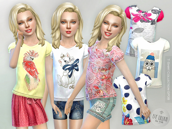 The Sims Resource: T  Shirt Collection GP08 by lillka