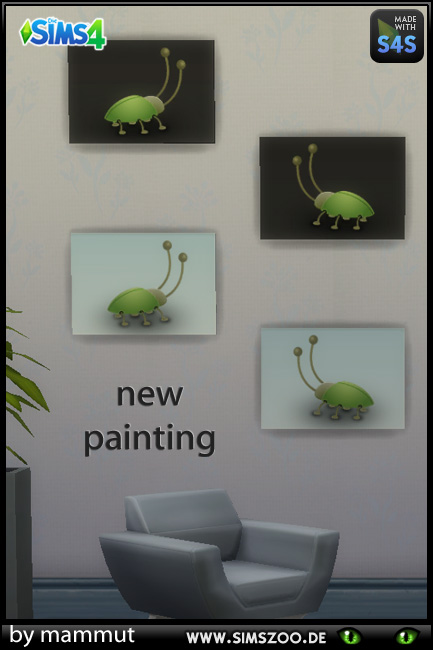 Blackys Sims 4 Zoo: Easy paintings 1 w by mammut