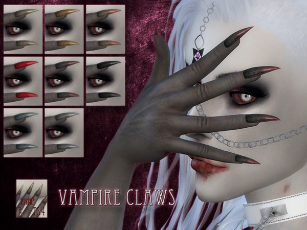 The Sims Resource Vampire Claws By Remussirion Sims 4