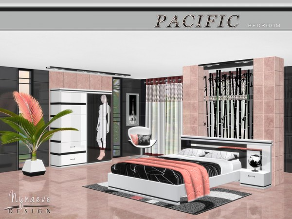 The Sims Resource: Pacific Heights Bedroom by NynaeveDesign