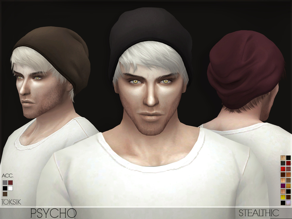 The Sims Resource: Stealthic   Psycho (Male Hair)