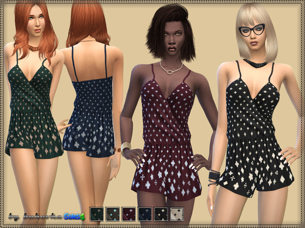 The Sims Resource: Jumpsuit & Geometric print by bukovka