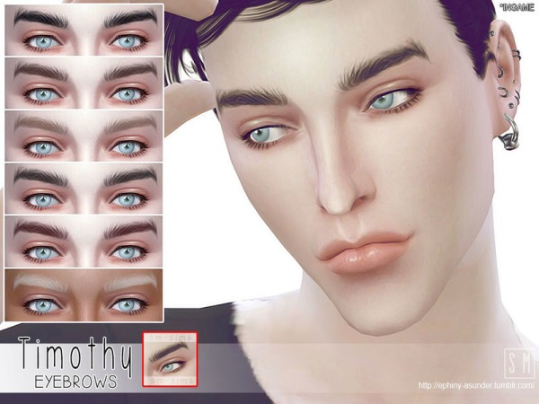 The Sims Resource: Timothy   Male Brows by Screaming Mustard