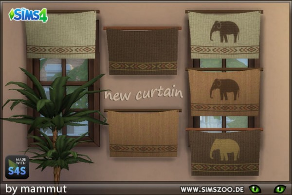 Blackys Sims 4 Zoo: Africa curtains by mammut