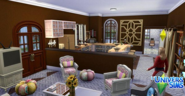 Luniversims: Customée house by  Coco Simy