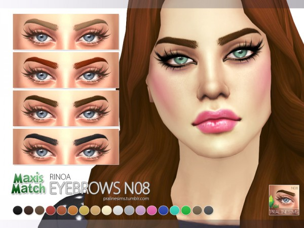 The Sims Resource Maxis Match Eyebrow Pack N01