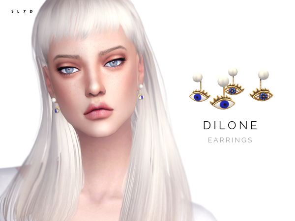 The Sims Resource: Dilone Earrings by SLYD