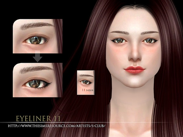 The Sims Resource: Eyeliner 11 by S Club