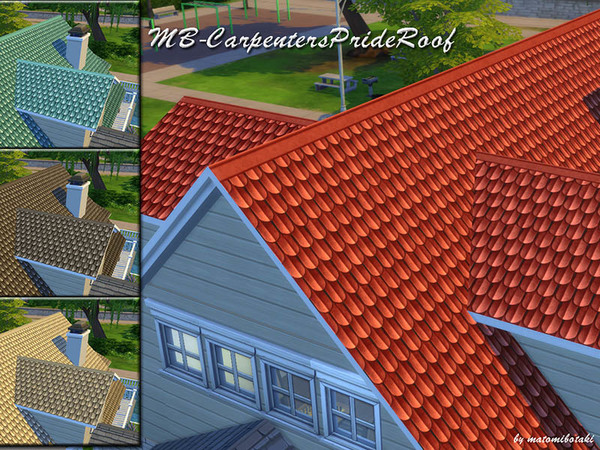 The Sims Resource: Carpenters Pride Roof by matomibotaki