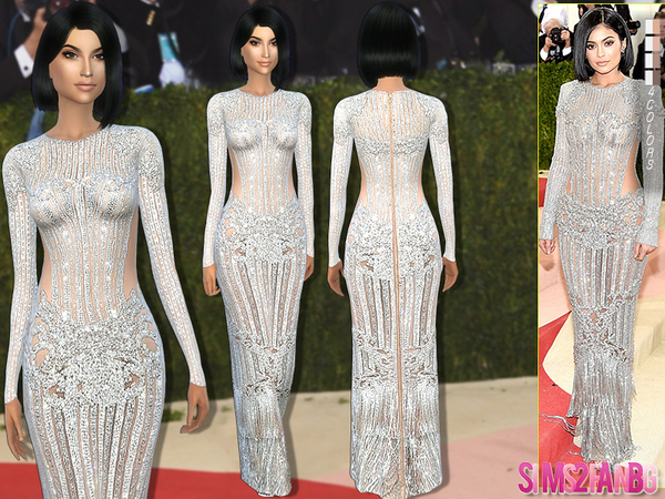 The Sims Resource: 171   Kylie Jenner Met Gala16 Dress by sims2fanbg