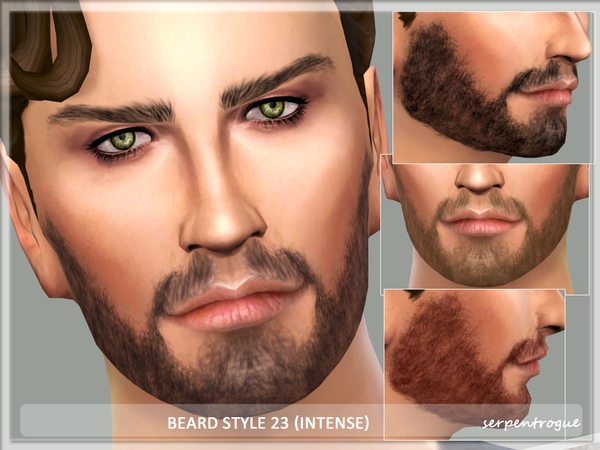 The Sims Resource: Beard Style 23 (intense) by Serpentogue