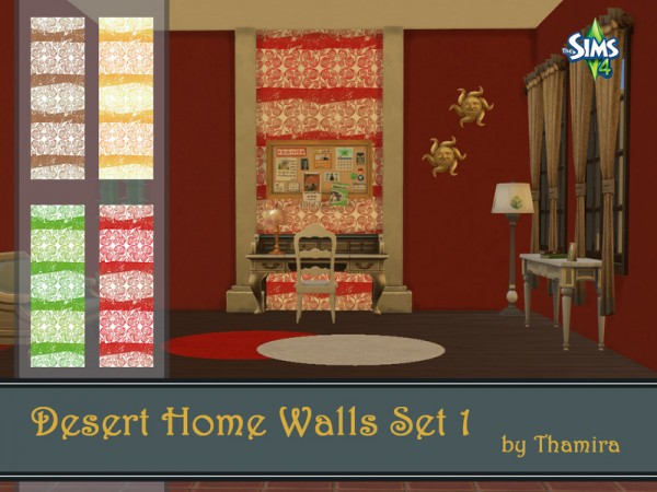 The Sims Resource: Desert Home Walls Set 1 by Thamira ... Sims 1 Walls
