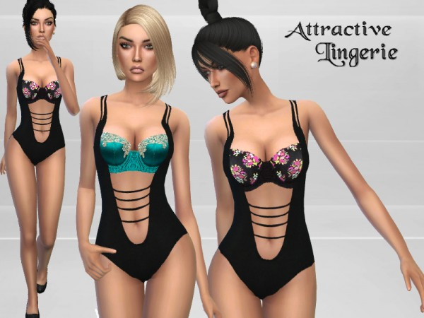 The Sims Resource: Attractive body suit by PureSim