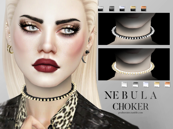 The Sims Resource: Nebula Choker Female by Pralinesims