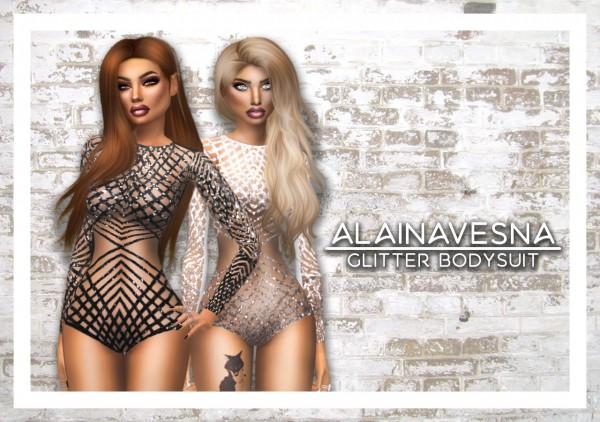 Alaina Vesna: Glitter Bodysuit