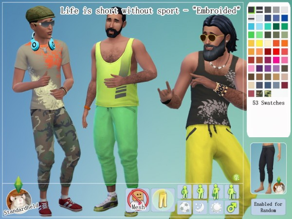 Simsworkshop: Life is short without sport    Male Clothes