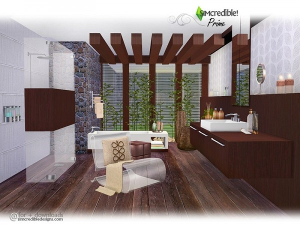 The Sims Resource Prime Bathroom By Simcredible Sims 4