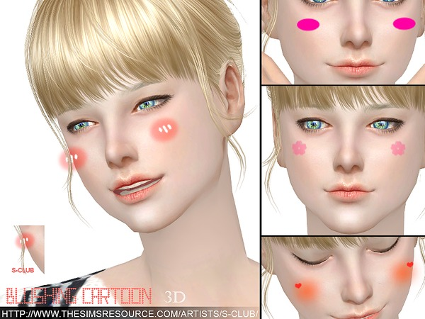 The Sims Resource: Blushing cartoon by S Club