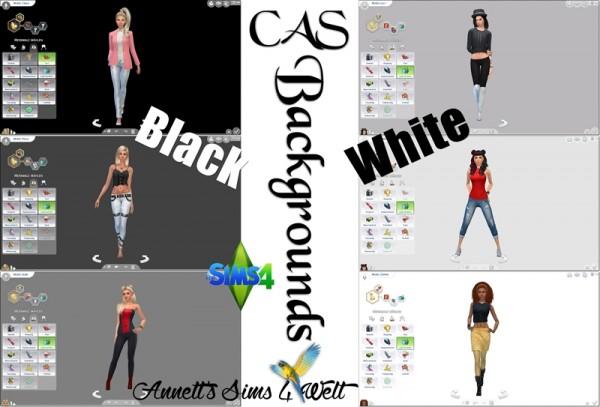 Annett`s Sims 4 Welt: CAS Backgrounds Black   White