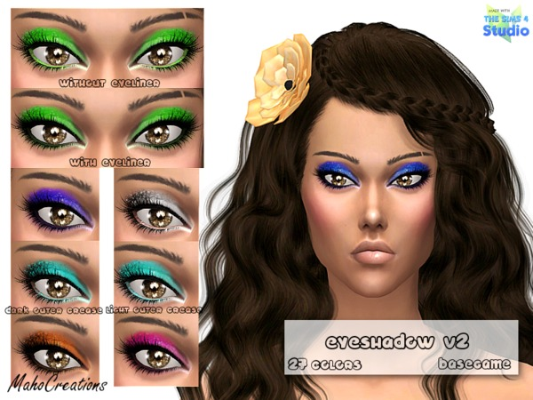 The Sims Resource: Eyeshadow 02 by MahoCreations