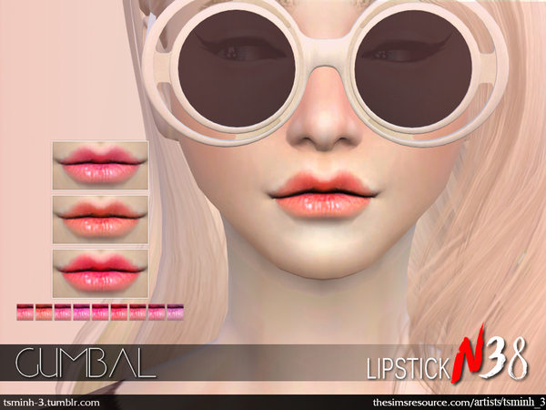 The Sims Resource: Gumbal Lipstick by tsminh 3