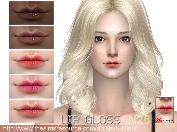 The Sims Resource: Lipstick 26 by S Club