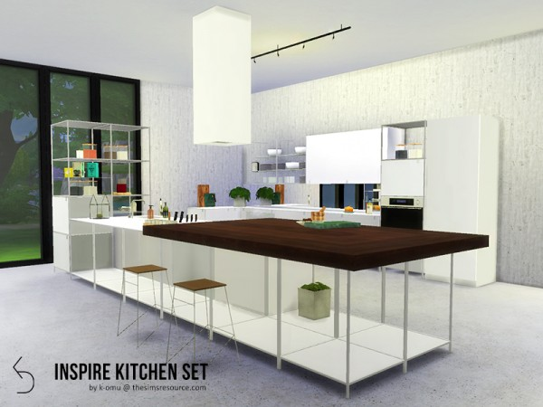 The Sims Resource: INSPIRE Kitchen Set by k omu