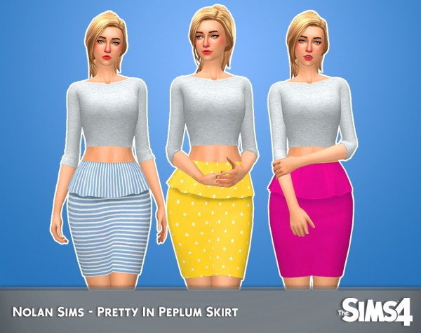 Nolan Sims: Pretty in peplum skirt