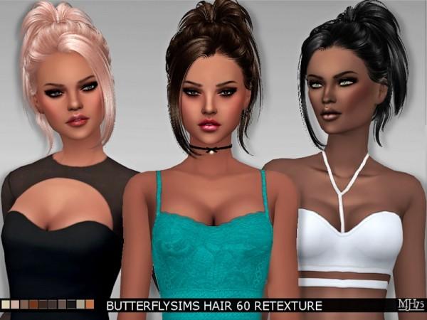 Sims Addictions: Butterflysims Hair 60 Retexture