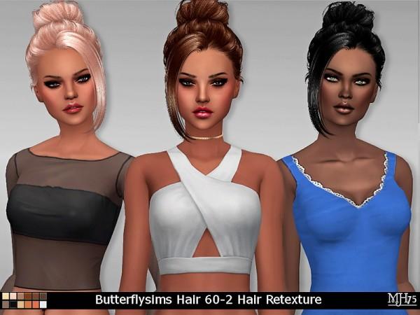 Sims Addictions: Butterflysims Hair 60 2 Hair Retexture