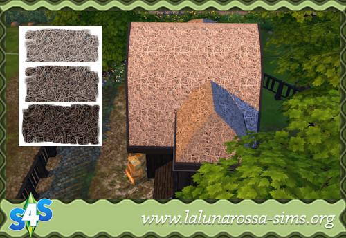 La Luna Rossa Sims: Dried Straw Roof