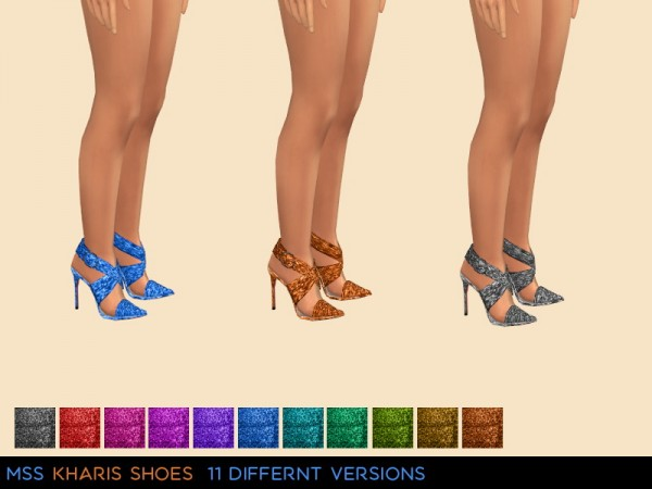 Simsworkshop: Kharis Shoes by midnightskysims